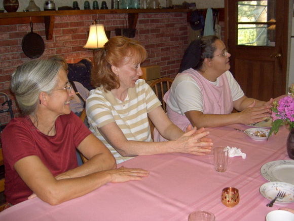 Breakfast --  gloria, frieda, chris
